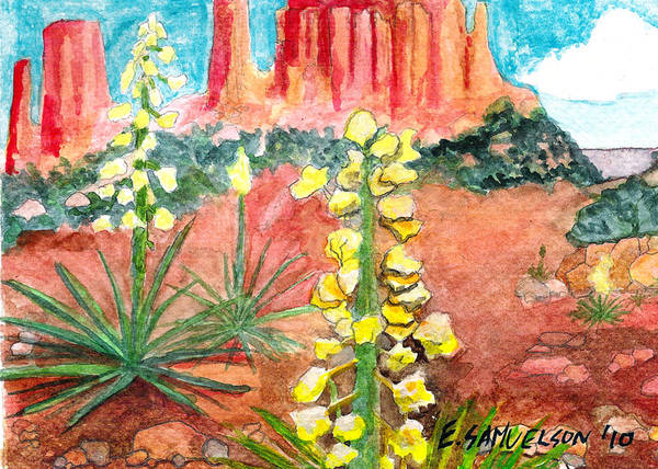 Painting - Yucca In Monument Valley by Eric Samuelson