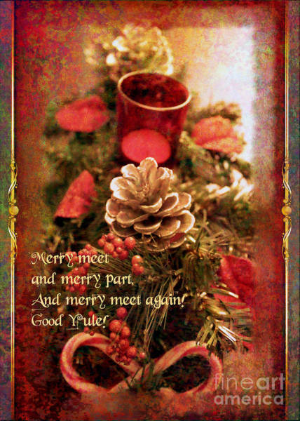 Digital Art - Yule Greetings 2017 by Kathryn Strick