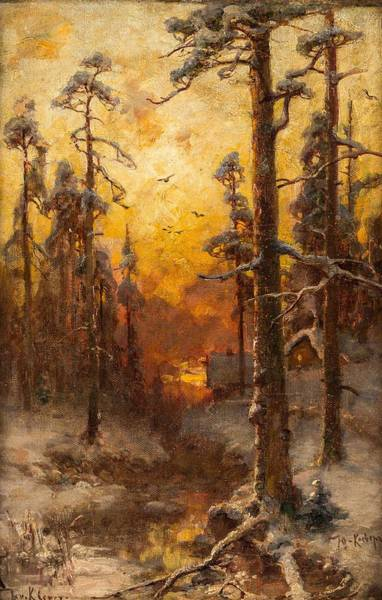 Painting - Yuliy Yulievich Klever And Studio  Russian 1850  1924 Winter Sun by Artistic Panda