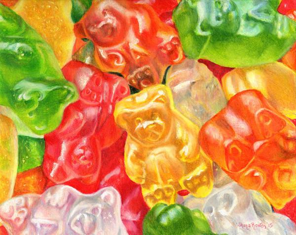 Gummy Bear Painting - Yummy Gummies For Your Tummy by Shana Rowe Jackson