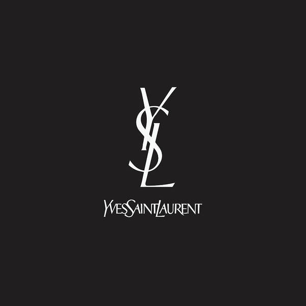 Wall Art - Digital Art - Yves Saint Laurent - Ysl - Black And White 02 - Lifestyle And Fashion by TUSCAN Afternoon