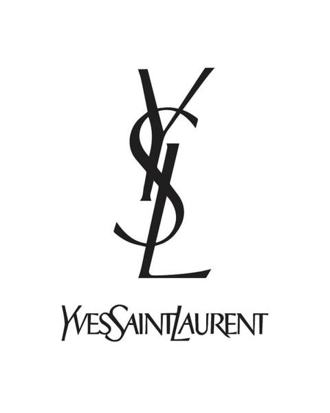 Wall Art - Digital Art - Yves Saint Laurent - Ysl - Black And White - Lifestyle And Fashion by TUSCAN Afternoon