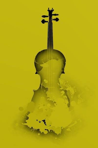 Digital Art - Ywllow Violin by Alberto RuiZ