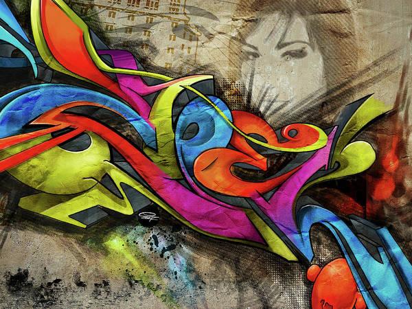 Streetart Mixed Media - Z-bell by Peter Zbel