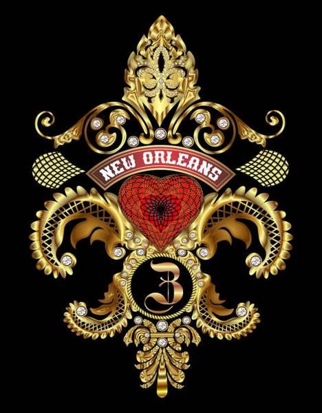 Deja Vu Digital Art - Z-fleur-de-lis New Orleans Transparent Back Pick Color by Bill Campitelle