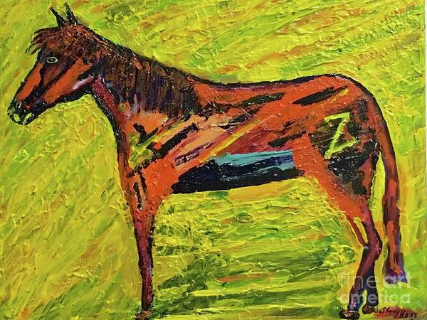 Wall Art - Painting - Z Horse by Jeffrey Koss