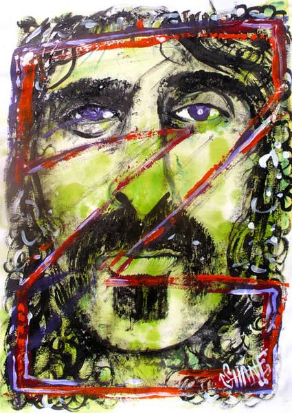 Frank Zappa Painting - Z Is For Zappa by Sam Hane