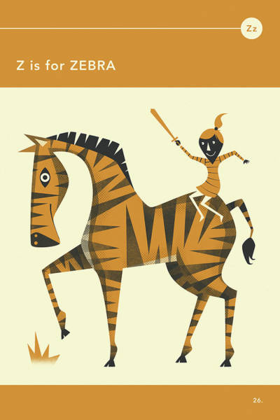 Illustrator Wall Art - Digital Art - Z Is For Zebra by Jazzberry Blue