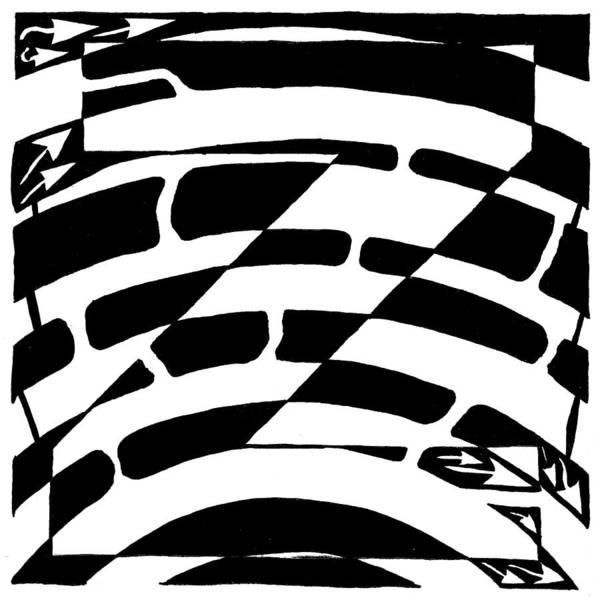 Z Maze Art Print by Yonatan Frimer Maze Artist