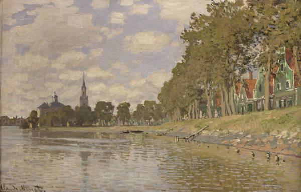 1871 Painting - Zaandam by Claude Monet