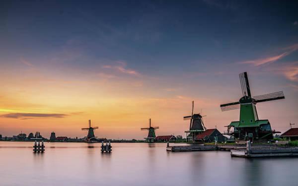 Photograph - Zaanse Schans Sunset by Framing Places