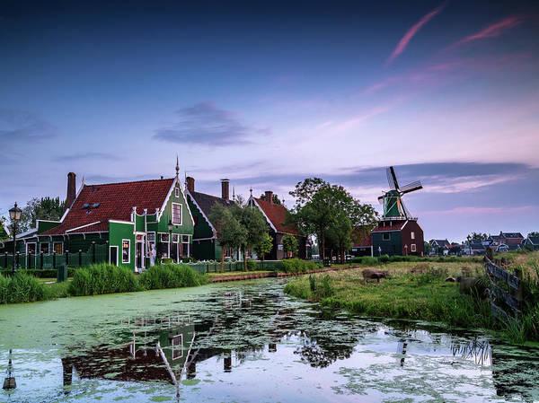 Photograph - Zaanse Schans Village At Dusk by Framing Places