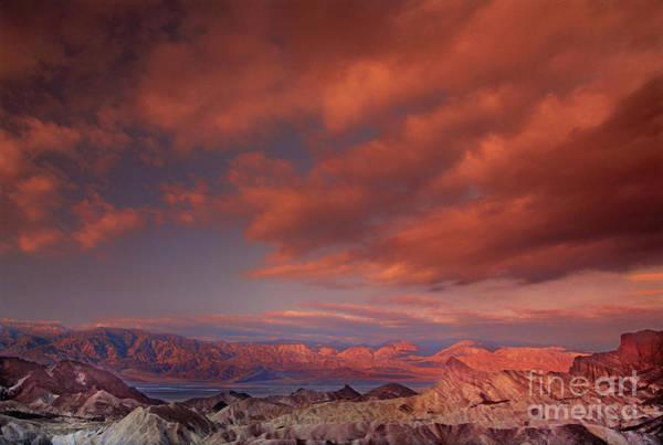 Photograph - Zabriski Point Sunrise Death Valley National Park California by Dave Welling