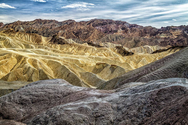 Death Valley Np Photograph - Zabriskie Point  9500 by Karen Celella