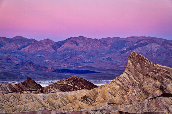 Photograph - Zabriskie Point Before Dawn - Death Valley by Stuart Litoff