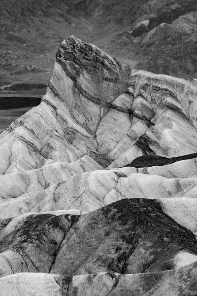 Photograph - Zabriskie Point Black And White by Bill Gallagher