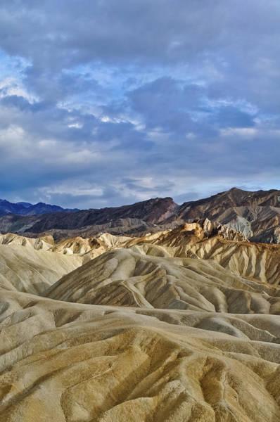 Photograph - Zabriskie Point Death Valley Badlands Portrait by Kyle Hanson
