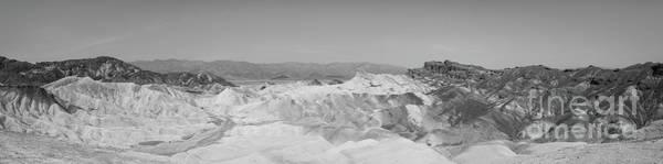 Death Valley Photograph - Zabriskie Point Pano Bw by Michael Ver Sprill
