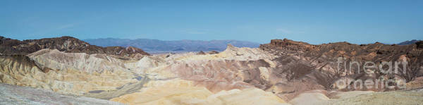 Death Valley Photograph - Zabriskie Point Panorama  by Michael Ver Sprill