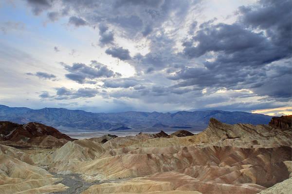 Photograph - Zabriskie Point Twilight Death Valley by Pierre Leclerc Photography
