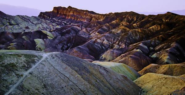 Wall Art - Photograph - zabriskie point waves PM glow three by Paul Basile