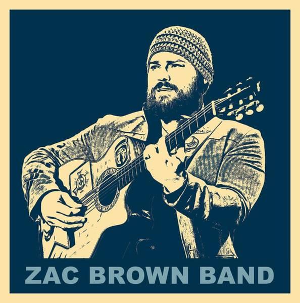 Wall Art - Digital Art - Zac Brown Band Poster by Dan Sproul
