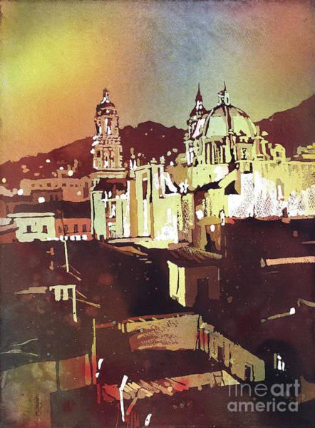 Wall Art - Painting - Zacatecas Church- Mexico by Ryan Fox