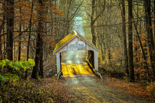 Photograph - Zacke Cox Covered Bridge by Jack R Perry