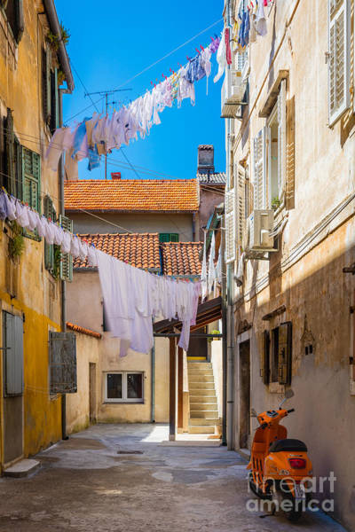 Dalmatian Photograph - Zadar Alley by Inge Johnsson