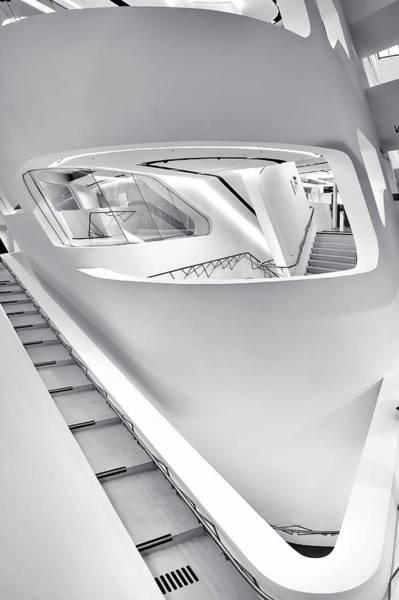 Photograph - Zaha Hadid Vienna Library Design Interior by Menega Sabidussi