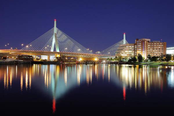 Charles Bridge Photograph - Zakim Aglow by Rick Berk