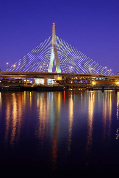 Charles Bridge Photograph - Zakim At Twilight II by Rick Berk