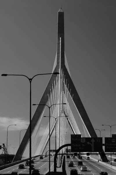 Photograph - Zakim Bridge 2 - Boston by Joann Vitali