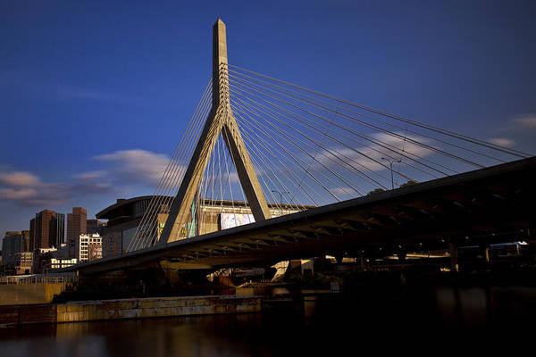 Photograph - Zakim Bridge And Boston Garden At Sunset by Rick Berk