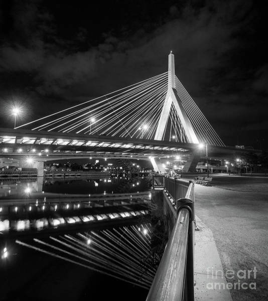 Photograph - Zakim Bridge And Charles River, Boston, Massachusetts #92317 by John Bald