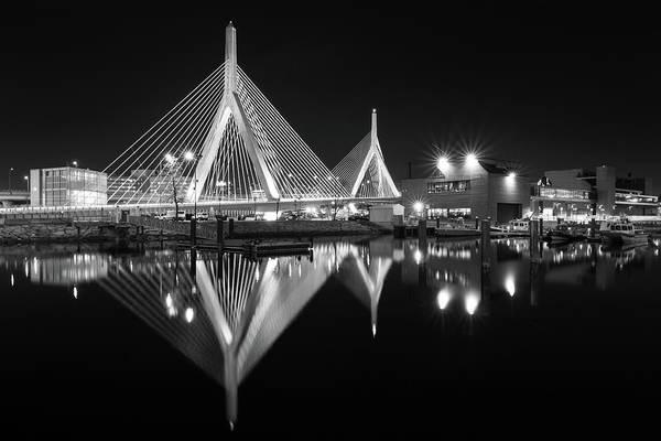 Photograph - Zakim Bridge From Lovejoy Wharf by Kristen Wilkinson