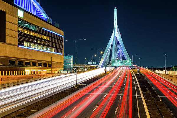 Photograph - Zakim Bridge by Mihai Andritoiu