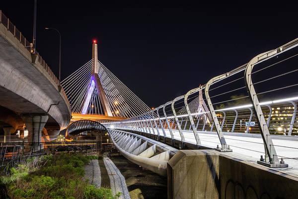 Photograph - Zakim Bridge Walkway by Kristen Wilkinson