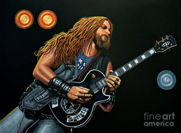 Guitarist Wall Art - Painting - Zakk Wylde by Paul Meijering