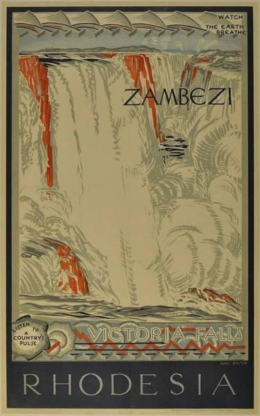 Victoria Falls Painting - Zambezi by MotionAge Designs