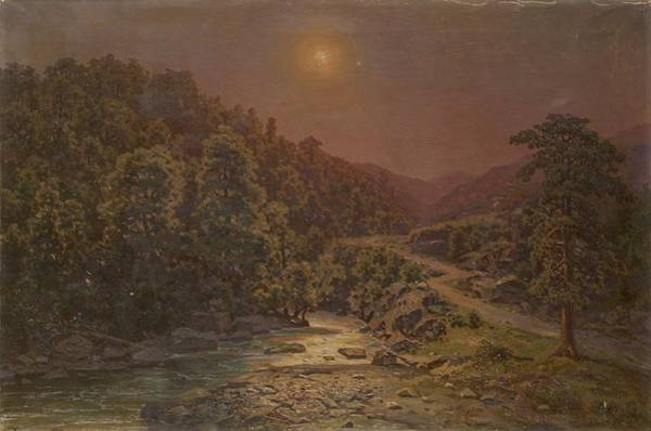 Painting - Zankovsky Ilya 1832 1919  Sunset In The Mountains by Artistic Panda