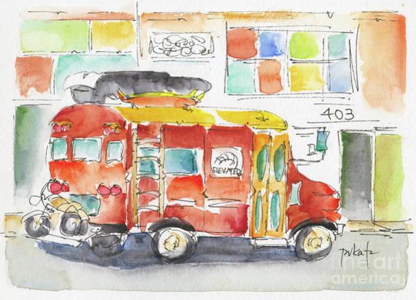 Painting - Zany Surf Truck by Pat Katz