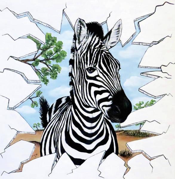 Zany Zebra Art Print