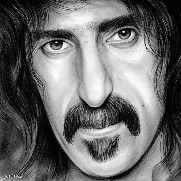 Frank Zappa Wall Art - Drawing - Zappa by Greg Joens