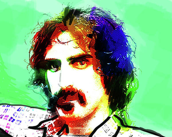 Frank Zappa Painting - Zappa Portrait  by Enki Art