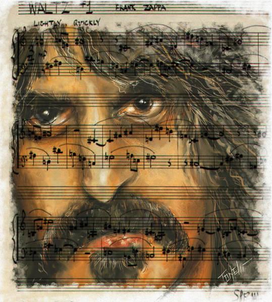 Frank Zappa Wall Art - Mixed Media - Zappa The Walz  by Mark Tonelli