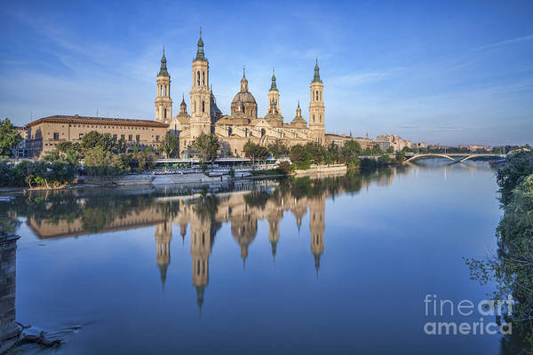 Aragon Photograph - Zaragoza Reflection by Colin and Linda McKie