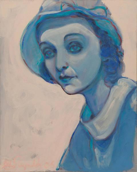 Painting - Zasu In Blue by John Reynolds