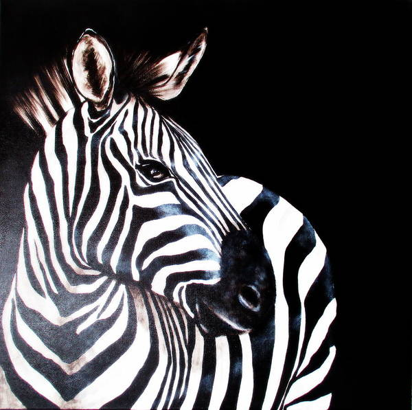 Painting - Zebra 2 by Tracey Armstrong