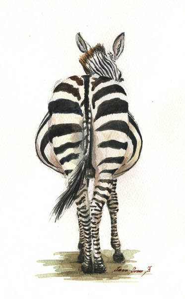 Zebra Painting - Zebra Back by Juan Bosco